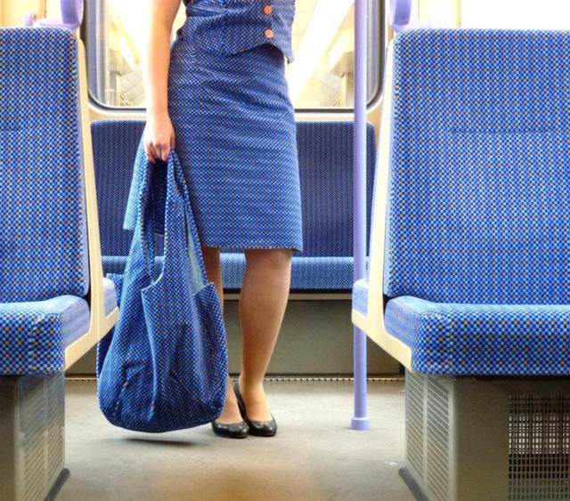 Outfits Sourced From German Public Transportation Fabric by Menja Stevenson