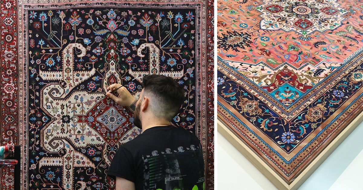 Elaborate Hand Painted Persian Carpets By Jason Seife