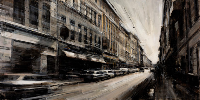 New Cityscapes in Motion Painted by Valerio D'Ospina