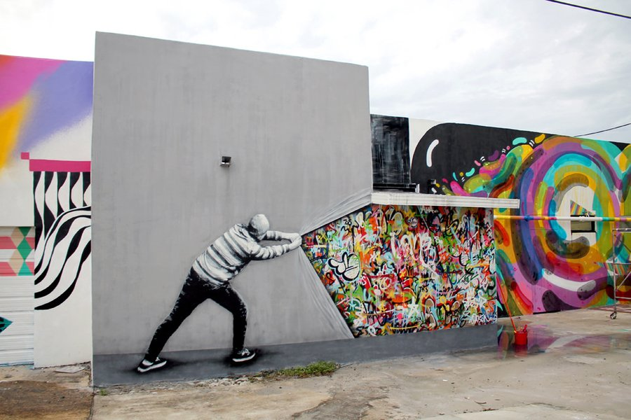 stencil art that blends graffiti and decay by martin whatson colossal