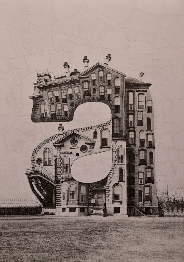 Buildings Shaped Like Letters of the Alphabet Made with Photographic Collage by Lola Dupré