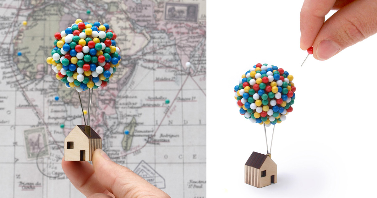 Balloon Pin House By Clive Roddy Colossal