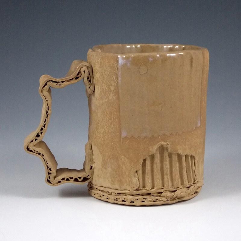 Ceramic Mugs That Imitate Used Cardboard by Artist Tim Kowalczyk ...