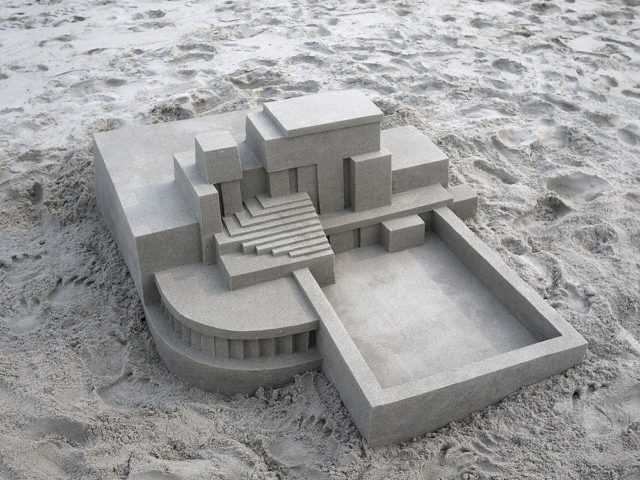 New Modernist Sandcastles Constructed by Calvin Seibert