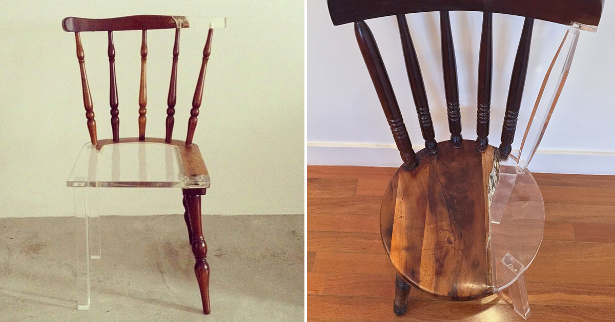 My New Old Chair Artist Fixes Broken Wood Furniture With Opposing