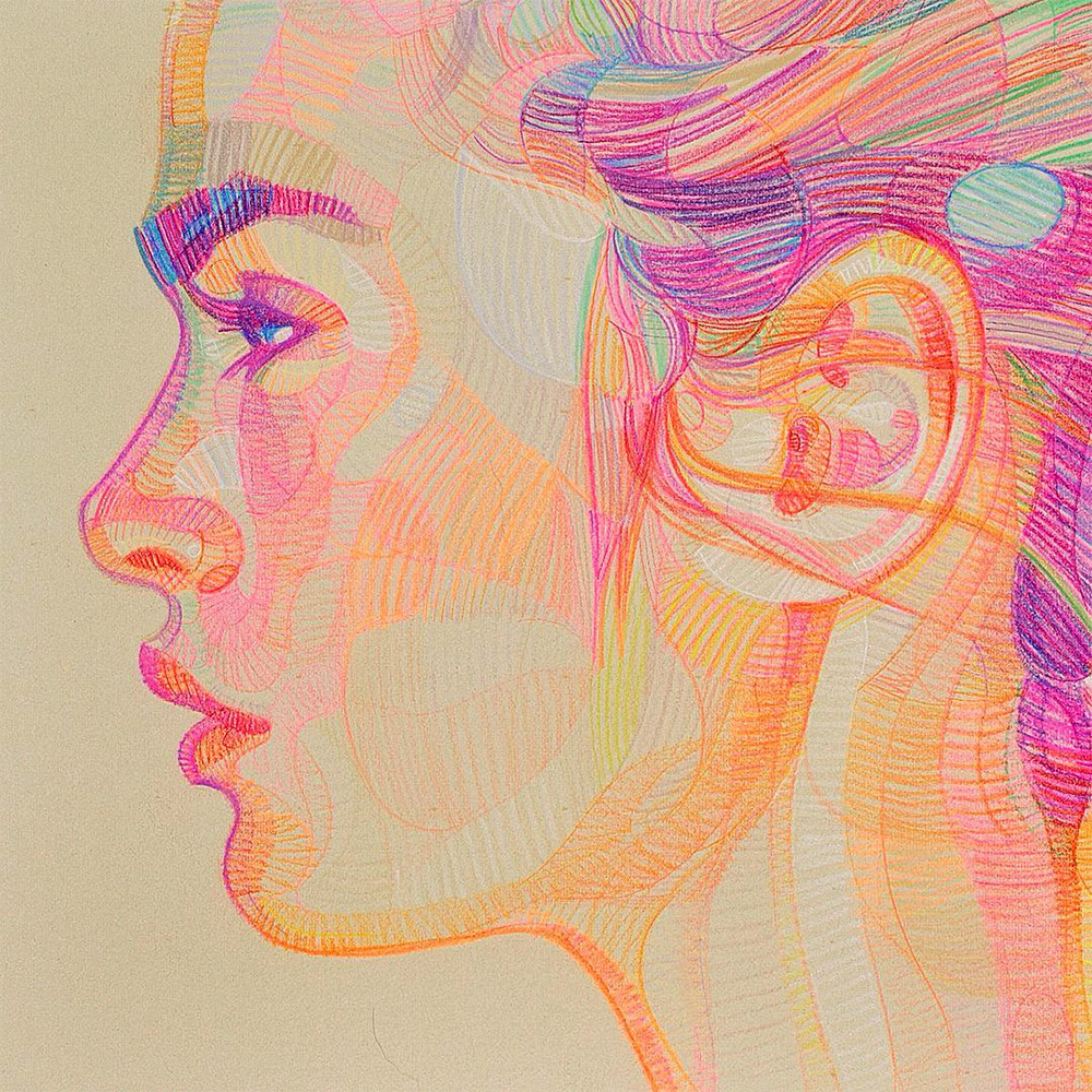 prismatic sketches of hands and faces by lui ferreyra colossal