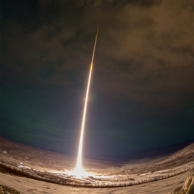 Dramatic View of a NASA Rocket Launch over Alaska