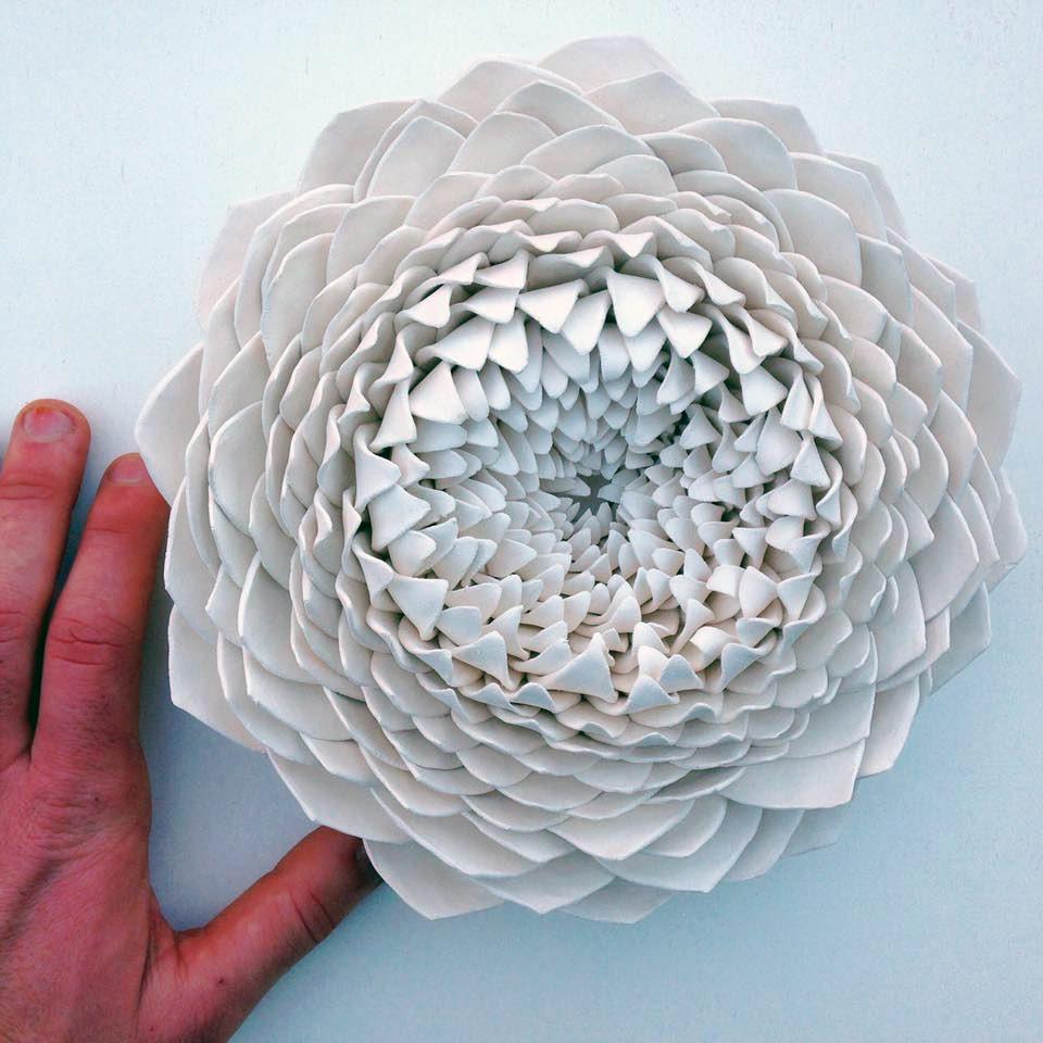 Handmade Ceramic Blooms by Owen Mann