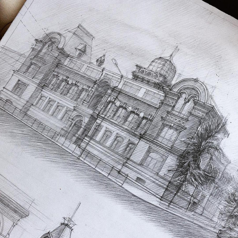architecture sketches. gareeva is currently studying at the kazan state university of architecture and engineering you can see more her technical drawings sketchbook sketches