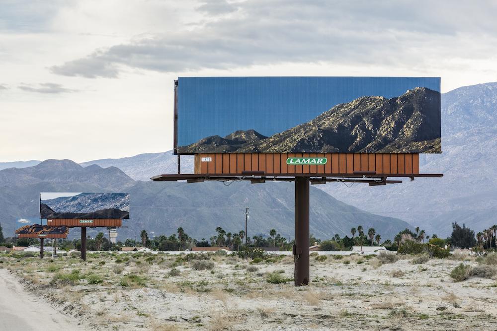 Installation view of Jennifer Bolande, at Desert X