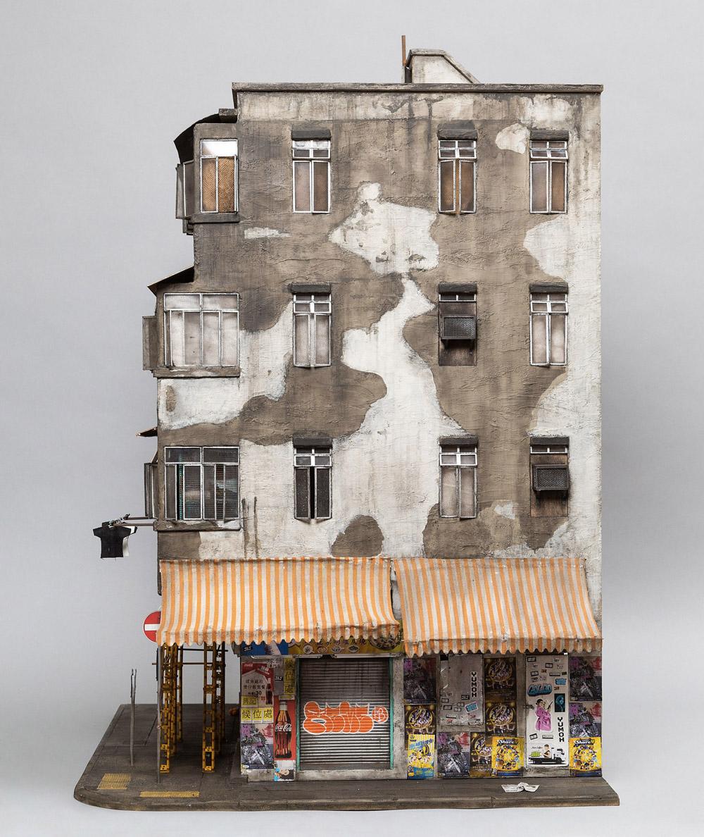 Stencil Miniature Buildings by Joshua Smith