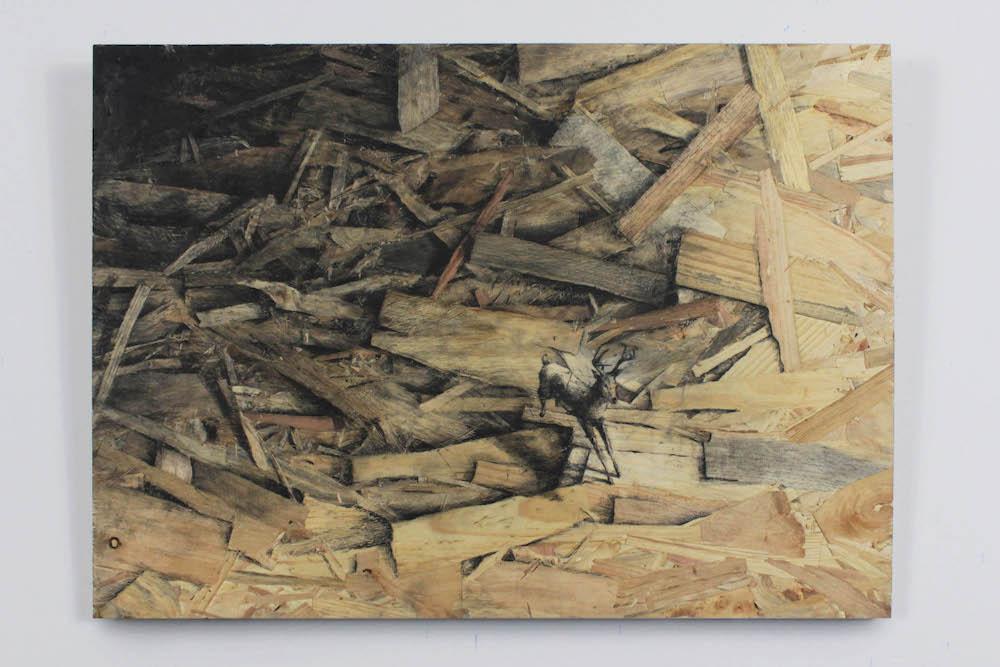 """Pejac's Newest Series """"Redemption"""" Utilizes Pressed Wood as Canvas Artes & contextos Pejac17 09"""