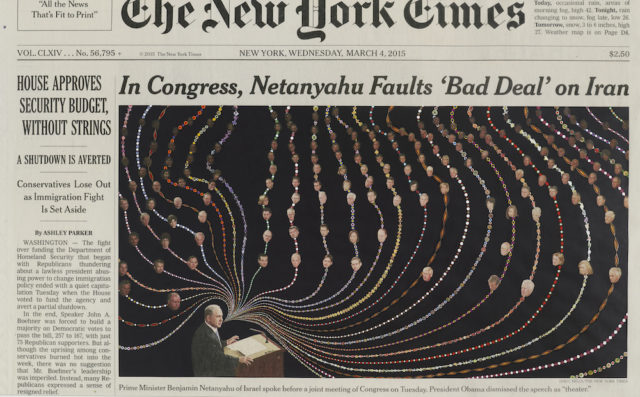 Abstracted Alterations to The New York Times' Front Pages by Fred Tomaselli