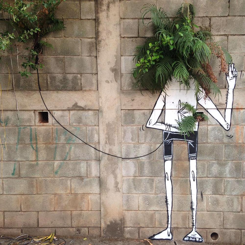 Inspiration Black & white StreetArt by Alex Senna