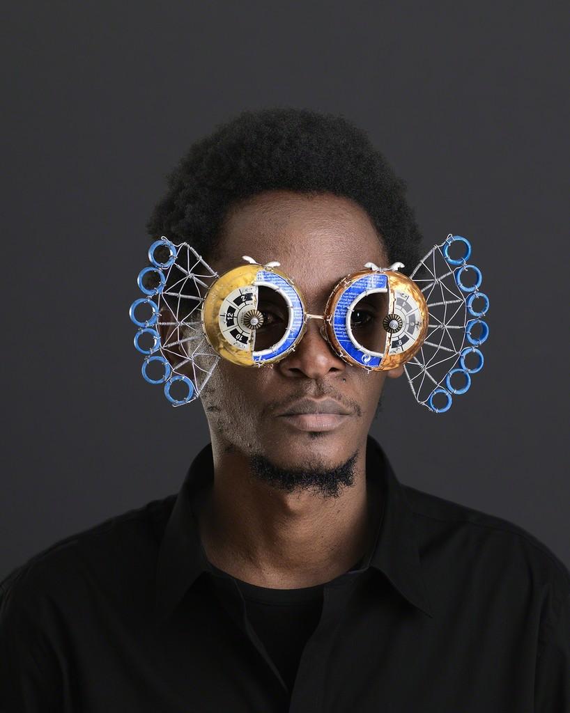 New Sculptural Eyewear Produced From Salvaged Street Metal by Cyrus Kabiru