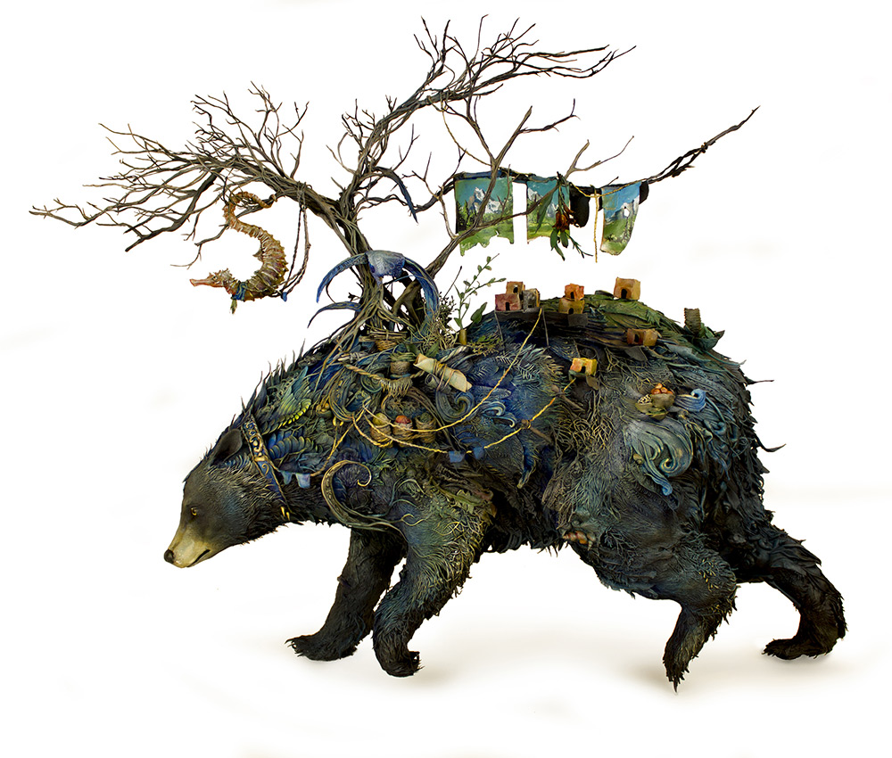 A Menagerie of Animals Covered in Surreal Landscapes of Flora and Fauna by Ellen Jewett