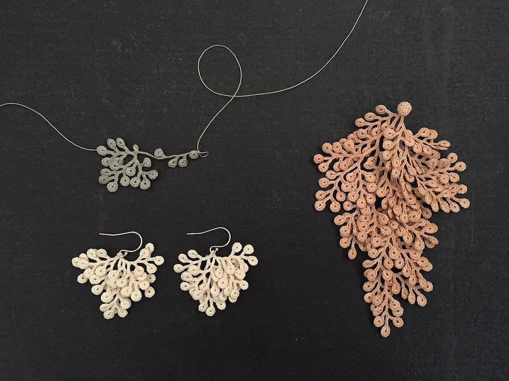 Crocheted Lace Jewelry Inspired By Organic Specimens Colossal