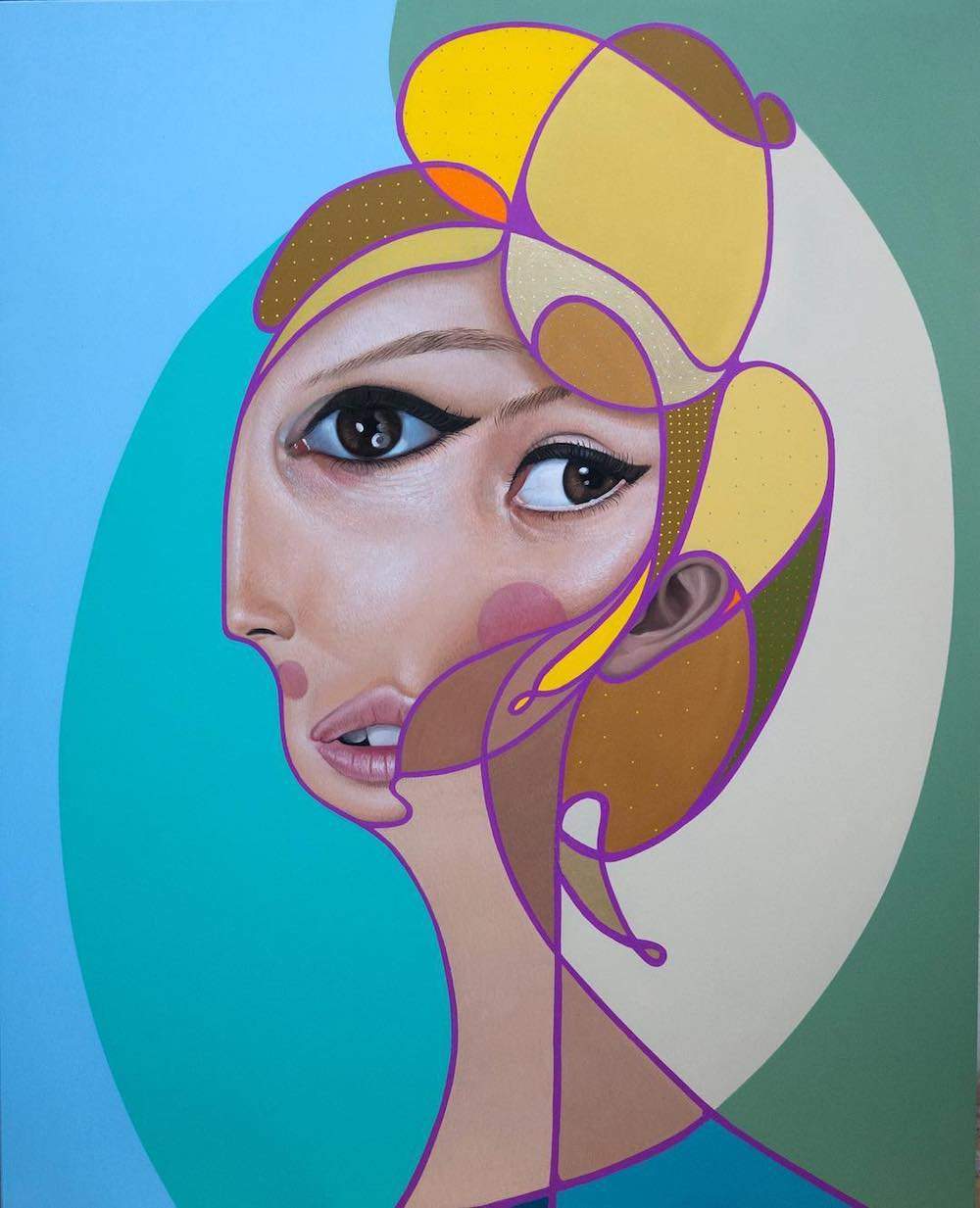 New Paintings Which Combine Cubist and Realist Elements by 'Belin' Artes & contextos BelinUpdate 04