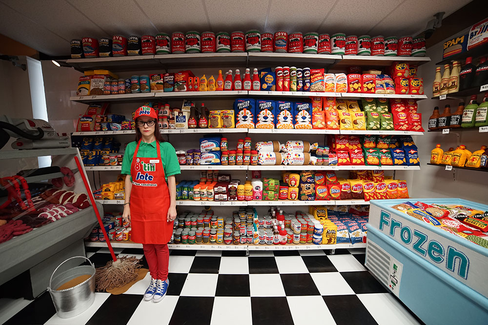 Colossal Artist Lucy Sparrow Opens an Entire Convenience Store of Handmade Felt Products in Manhattan If you have a late-night hankering for some felty gefilte fish or a bottle of fermented fabric, be sure to stop by 8 'Til Late, the newest temporary installation by British artist Lucy Sparrow known for her felt recreations of everyday objects....