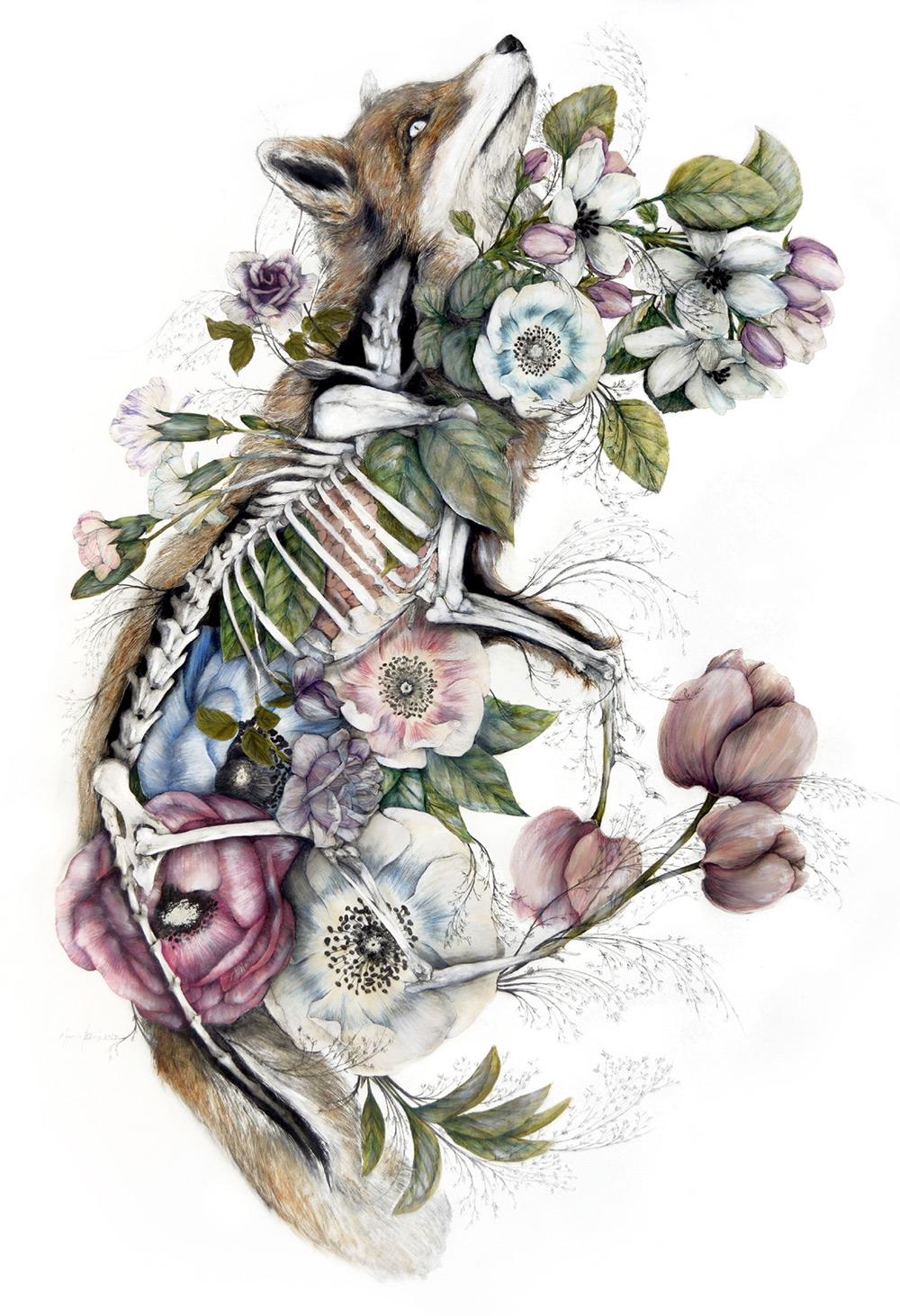 Mimesis: New Anatomical Paintings Depicting Flora and Fauna by Nunzio Paci Artes & contextos NunzioPaci 03