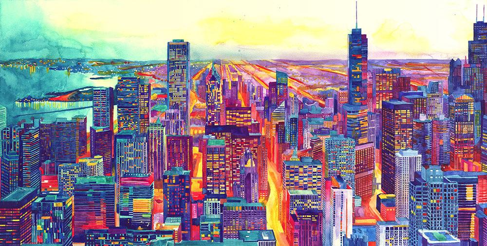 Colossal x Maja Wronska Print Release: Modern City Watercolor Series