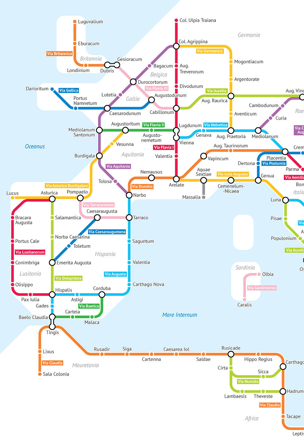 As A Subway Map.The Roman Empire S 250 000 Miles Of Roadways Imagined As A Subway