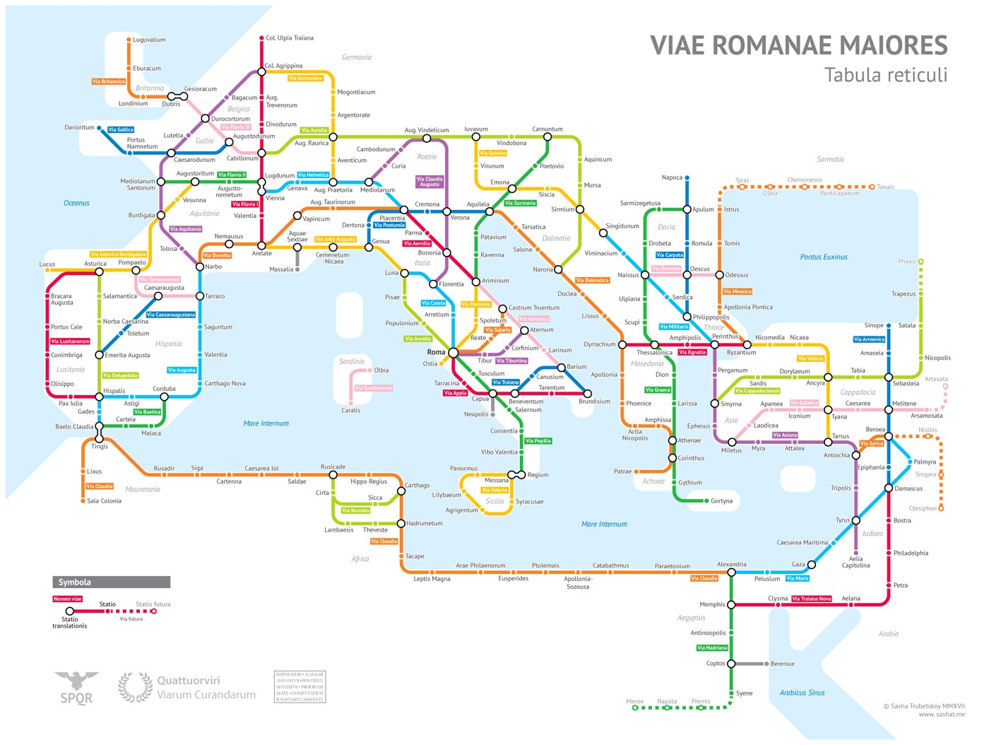 The Roman Empires Miles Of Roadways Imagined As A Subway - Map of every subway in us
