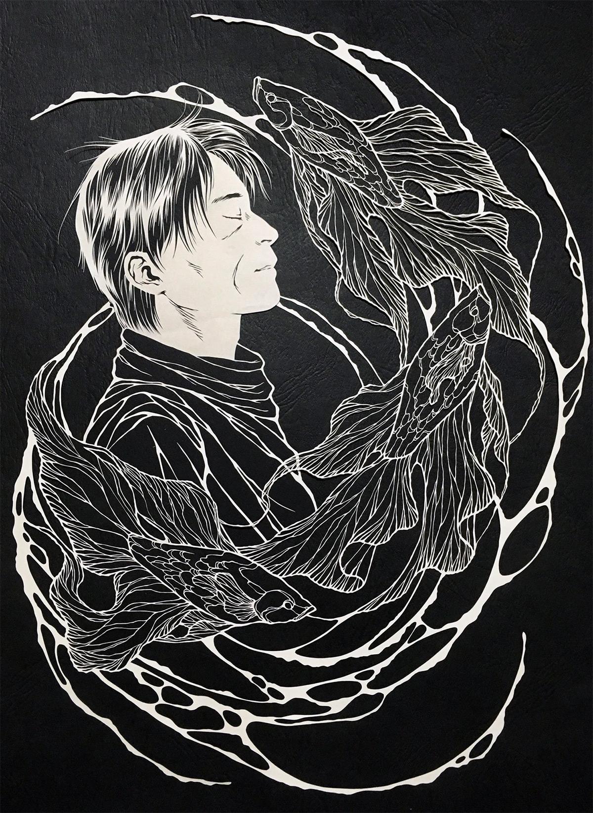 Amazingly Fragile Cut Paper Artworks by 'Kiri Ken' Artes & contextos paper 8
