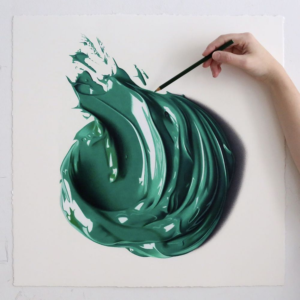 Giant Dabs of Thick Oil Paint Captured as Hyperrealist ...