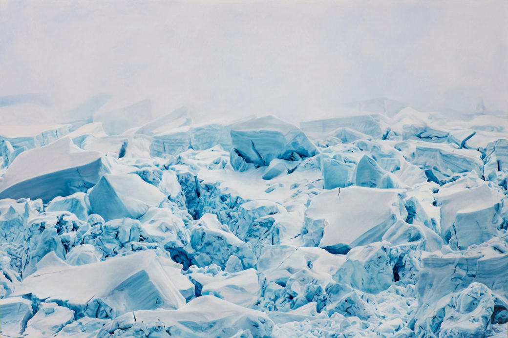 """Cierva Cove, Antarctica no. 1,"" Soft Pastel on paper, 60"" x 90"", 2017"