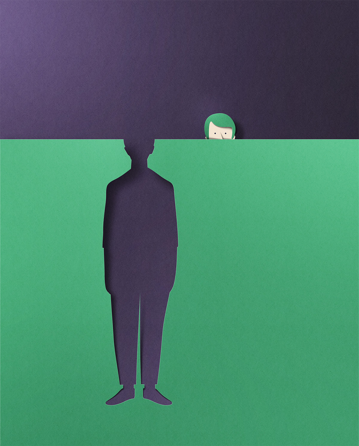 New Paper Textured Editorial Illustrations by Eiko Ojala ...