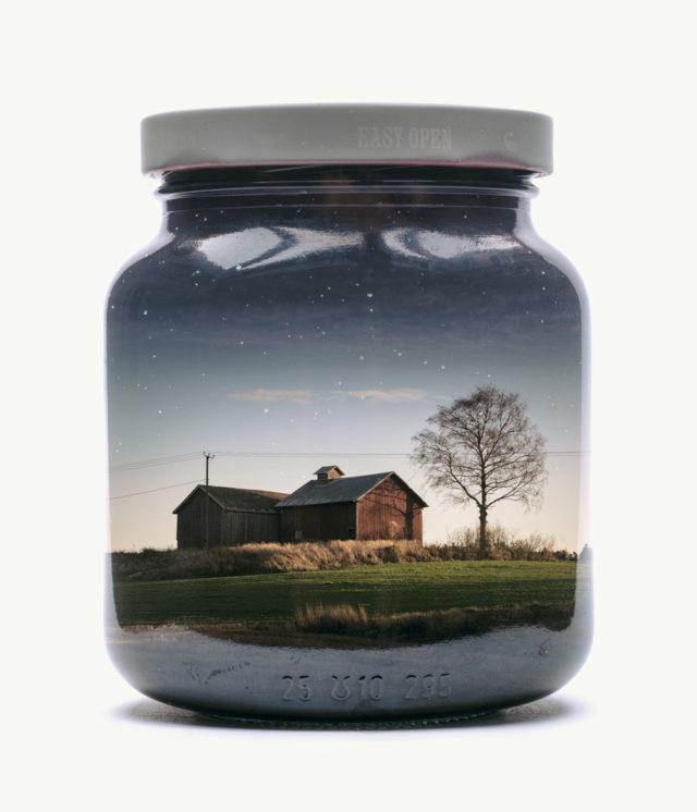 New Finnish Landscapes Captured Within Jars by Christoffer Relander