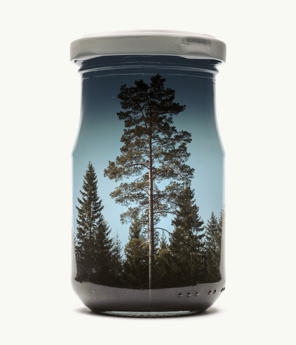 New Finnish Landscapes Captured Within Jars By Christoffer