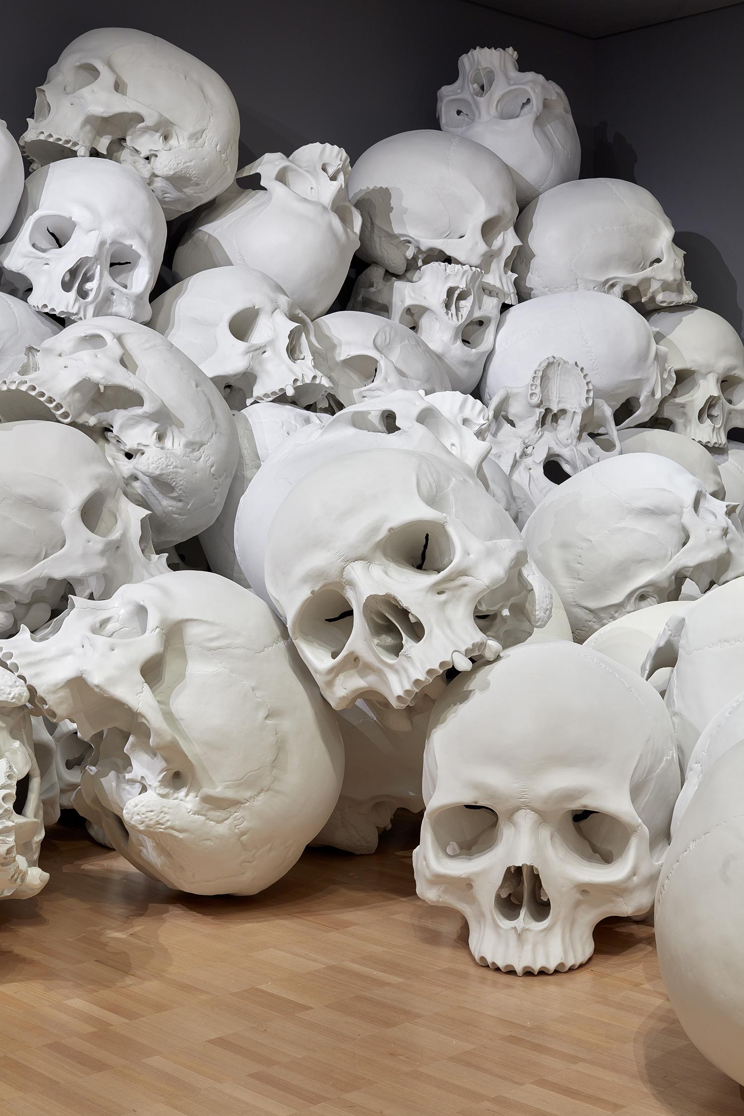 100 Fiberglass And Resin Skulls Fill A Room At The