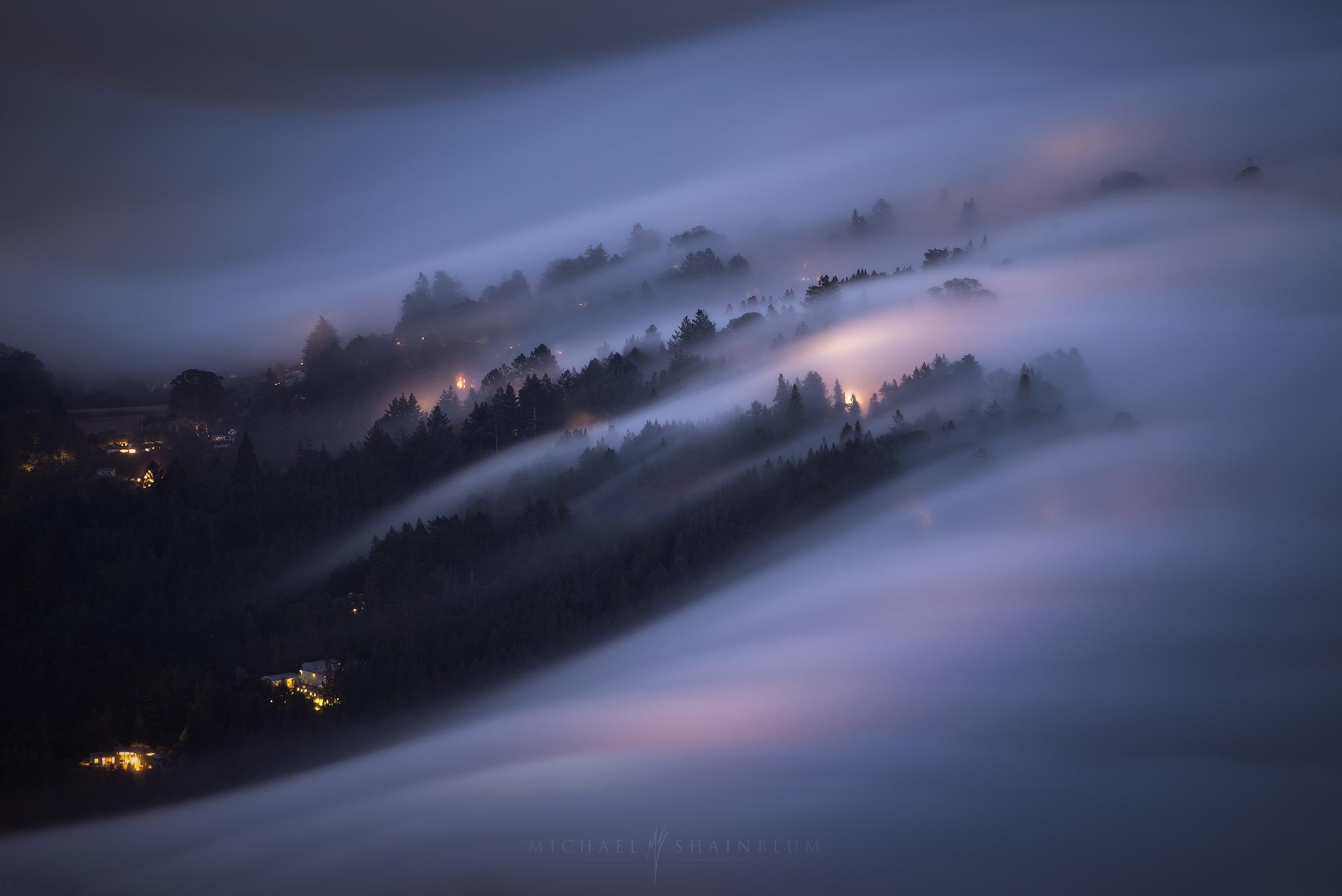 san francisco shrouded in dense fog captured by michael