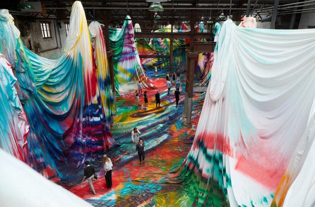 Walk Inside a Warehouse-Sized Kaleidoscopic Painting by Katharina Grosse