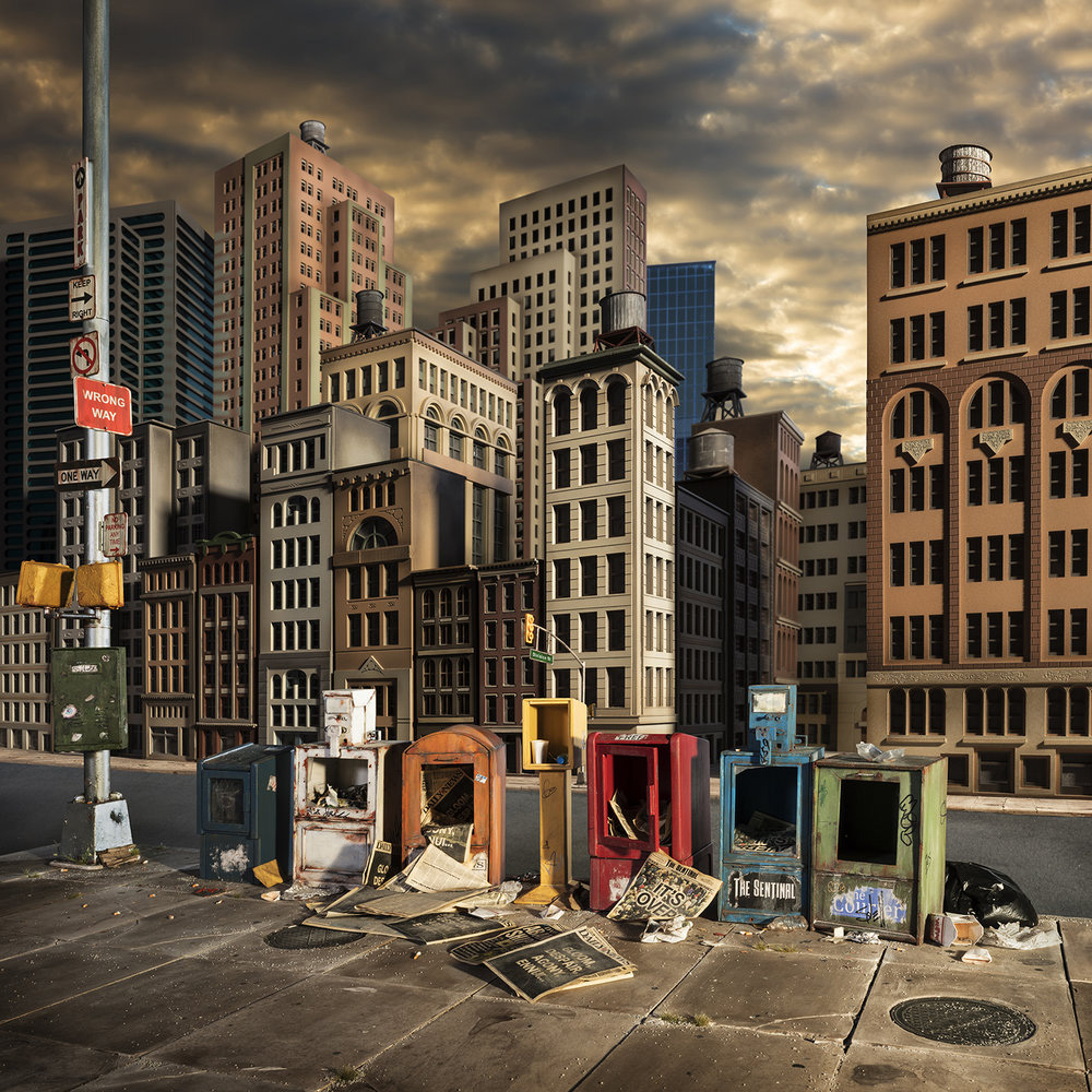 Post: New Miniature Post-Apocalyptic Environments By Lori Nix