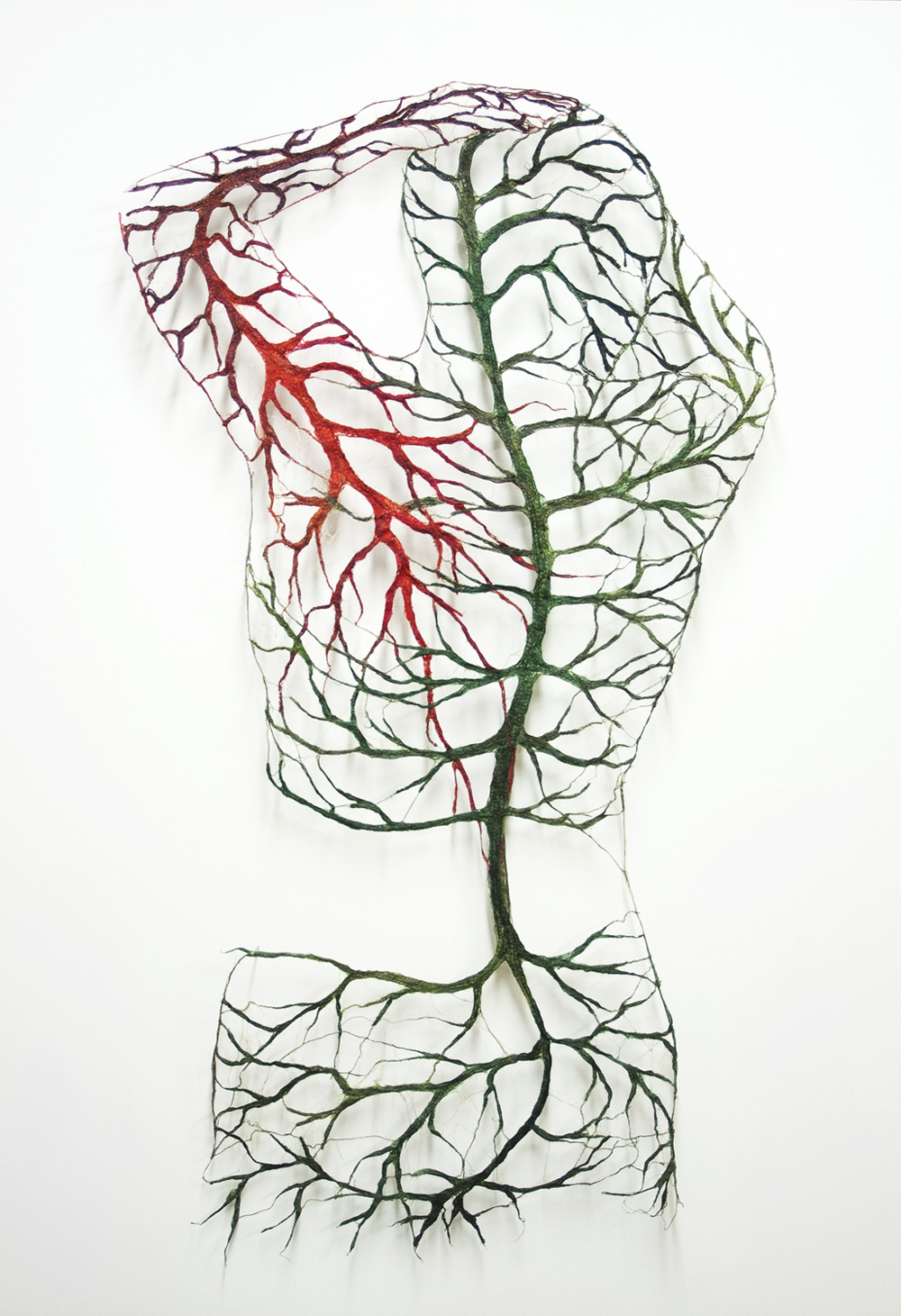 Textile Bodies Reveal Branched Systems Of Veins Flowers And Roots