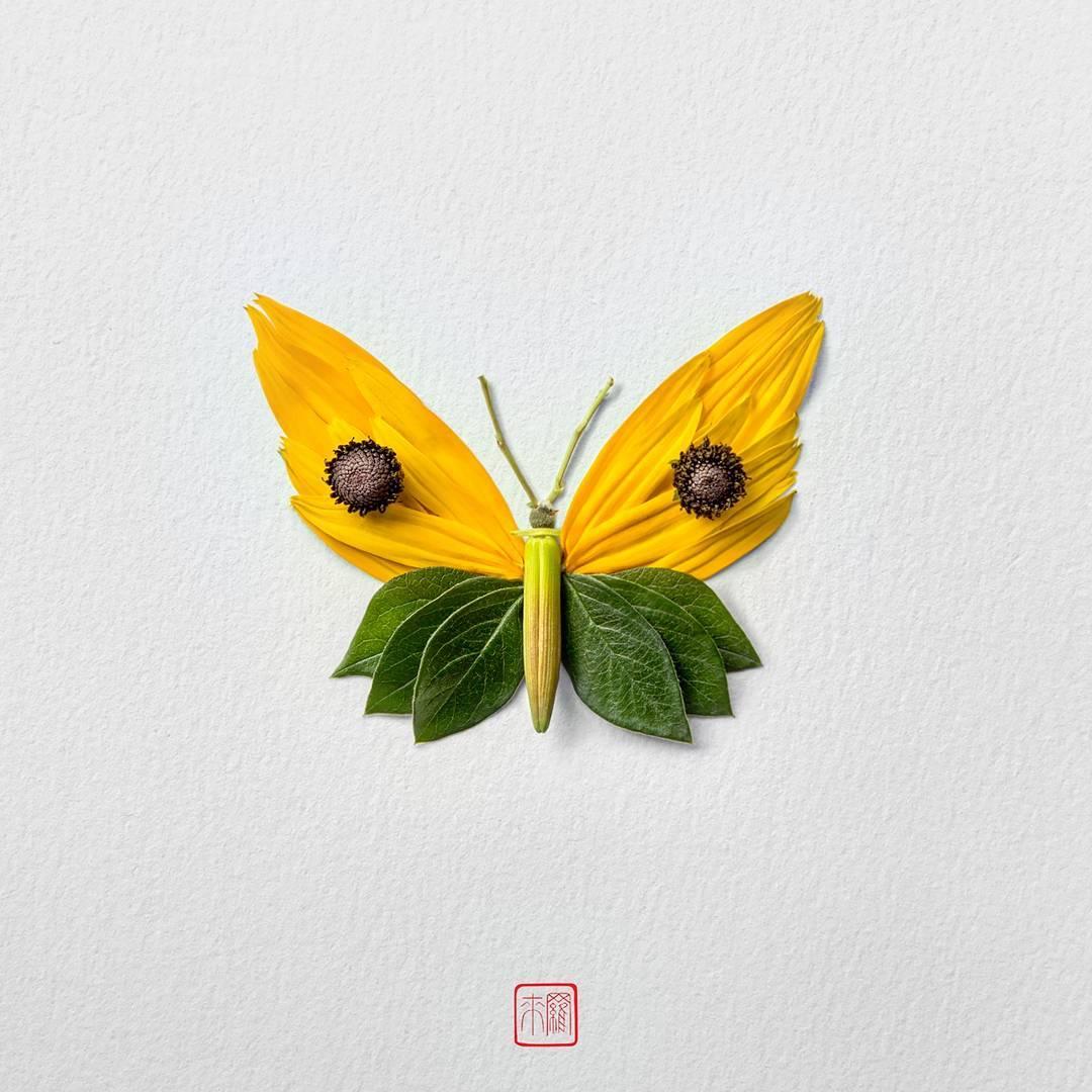 Seniman Montreal Ini Menyusun Bunga Menjadi Bentuk Serangga yang Mengagumkan