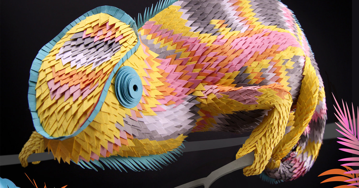 Dazzling Three Dimensional Paper Sculptures Of Birds Bees And Crustaceans By Lisa Lloyd Colossal