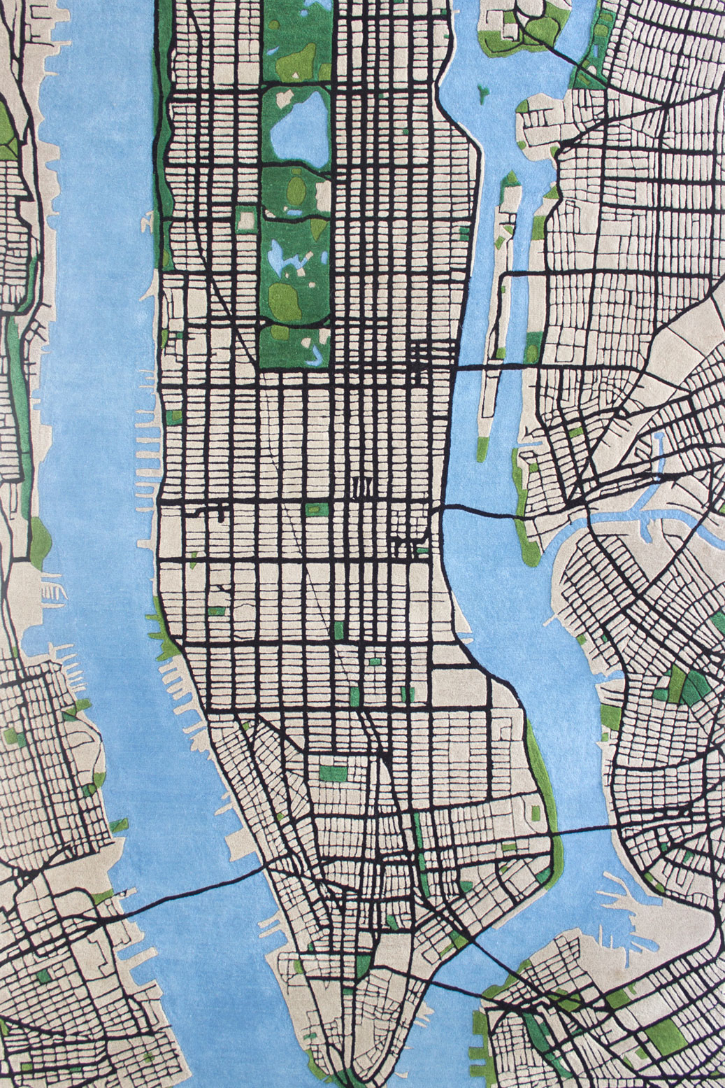 A Plush Rug Recreates The Grids And Greenways Of Manhattan