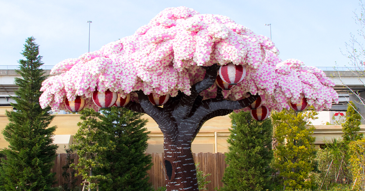 The World S Largest Lego Cherry Blossom Tree Blooms In