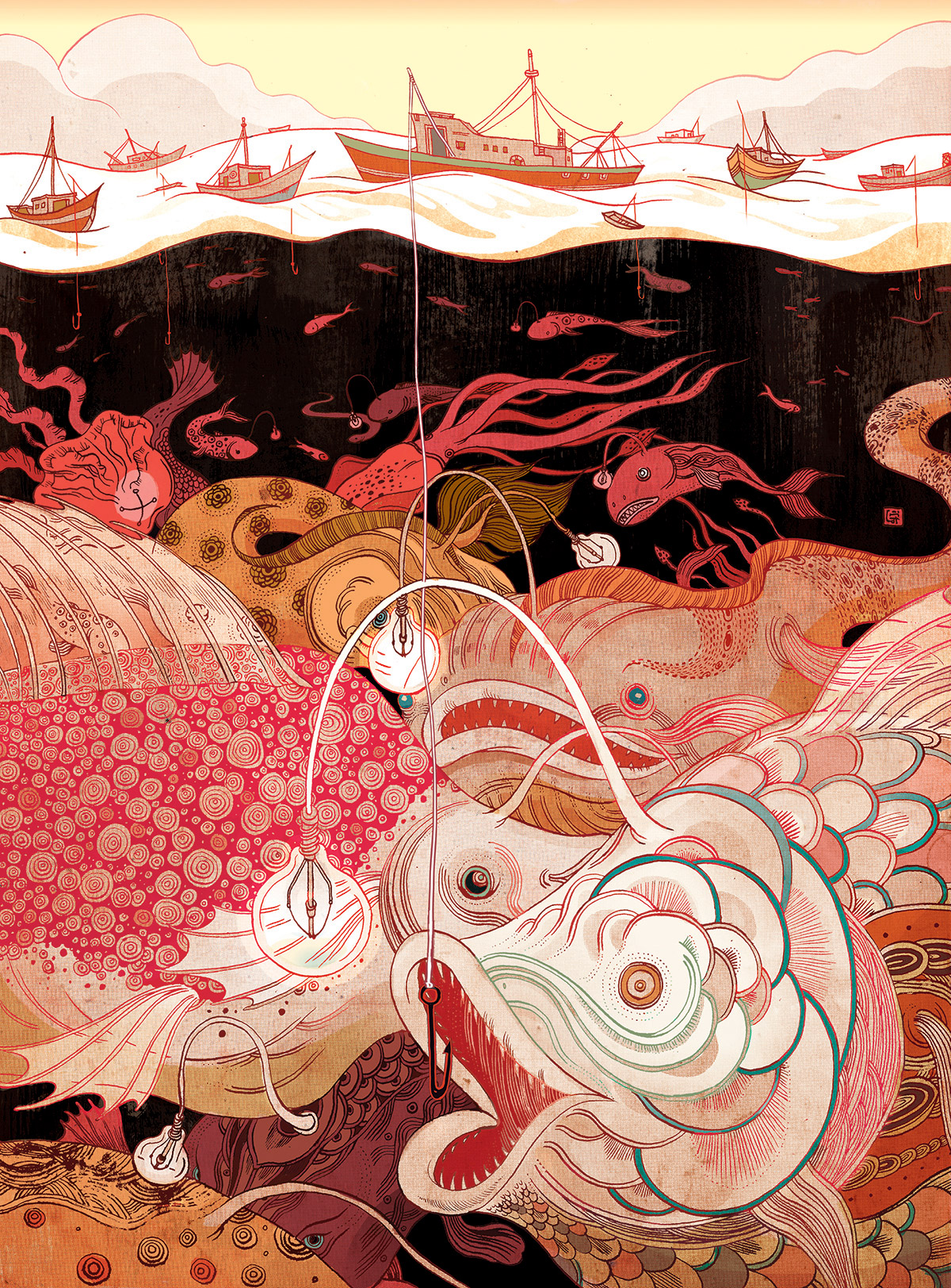 Multi-Dimensional Illustrations Weave Together Mysterious Narratives by Victo Ngai | Colossal
