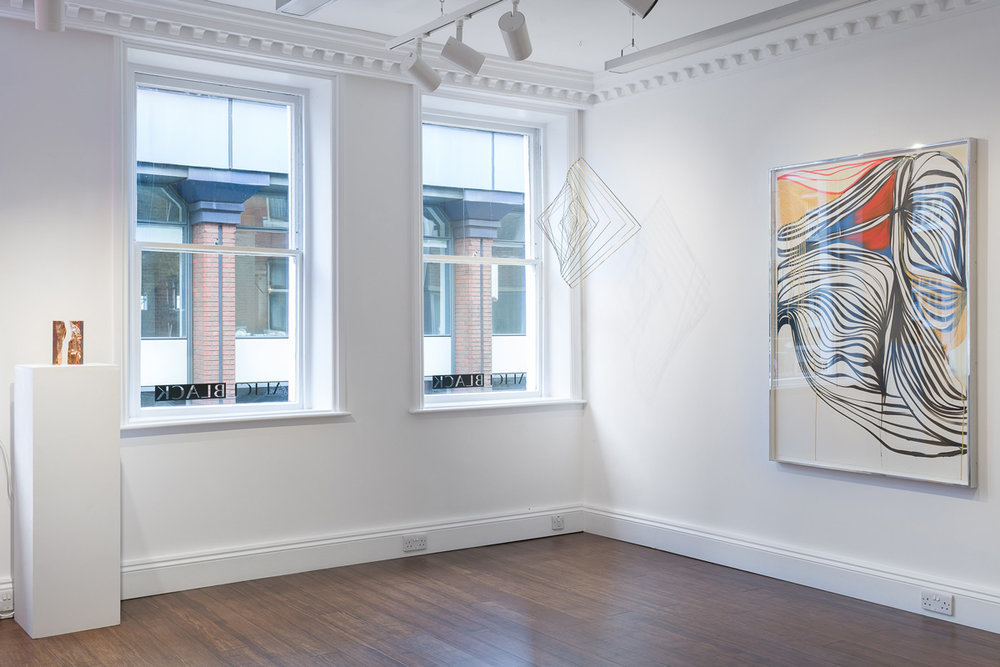 "Installation view of Square Wave in the exhibition ""In the Manner of Smoke"" at Alice Black Gallery"