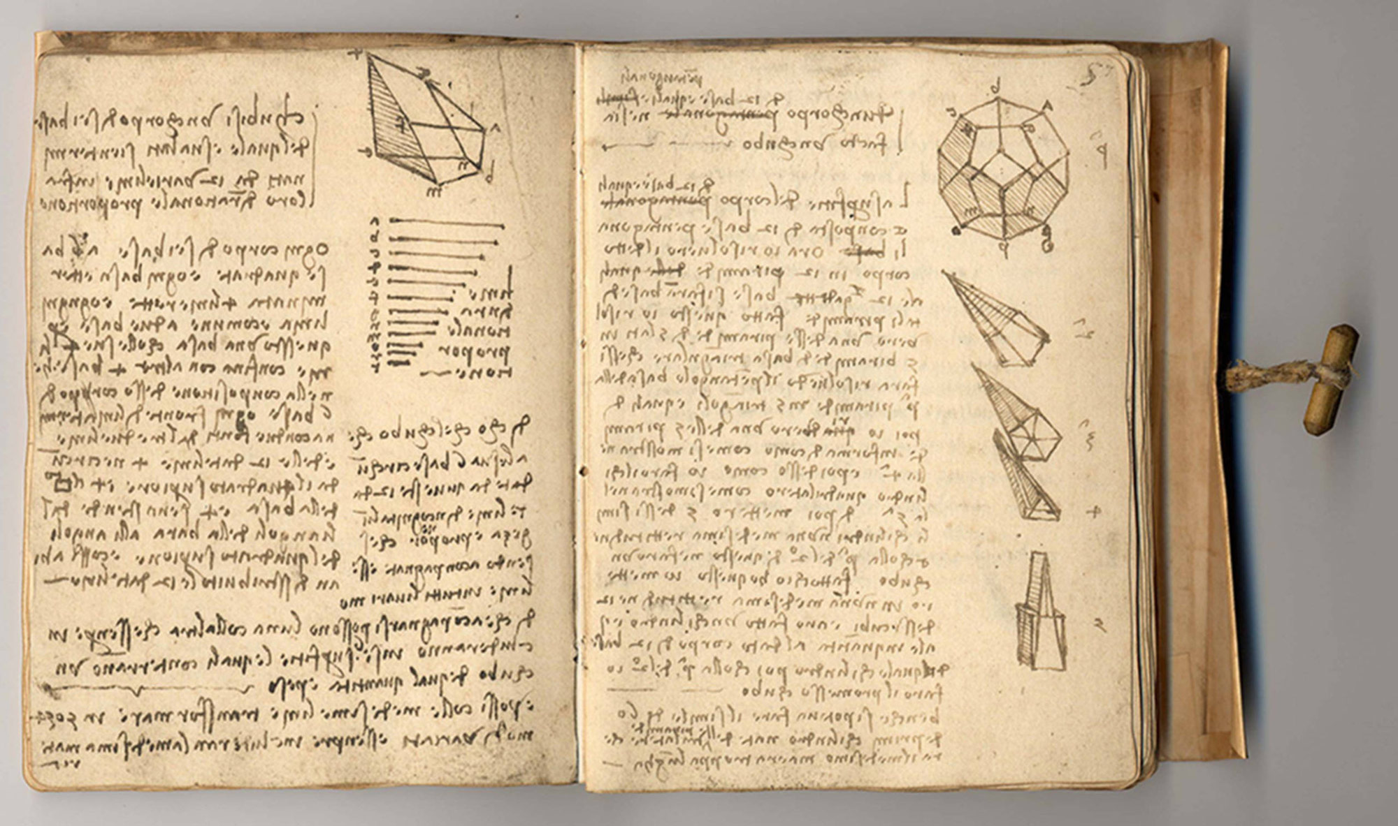 Codex Forster II , Leonardo da Vinci, late 15th – early 16th century, Italy. Museum no. Forster MS.141. © Victoria and Albert Museum, London