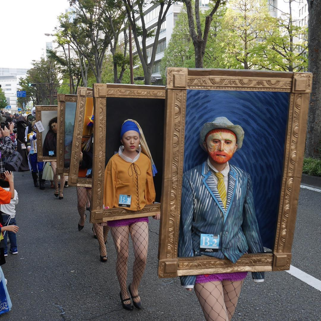 Art Historical Masterworks Come Alive at Annual Halloween Parade in Kawasaki, Japan | Colossal
