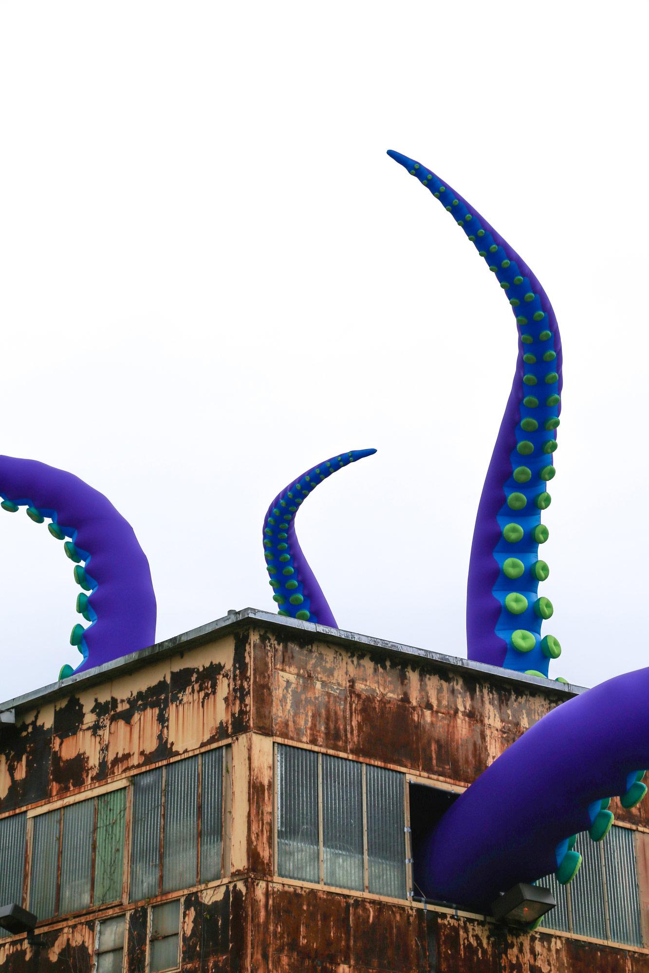 A Gargantuan Purple Sea Monster Lurks Inside a Two-Story Warehouse at Philadelphia's Navy Yard