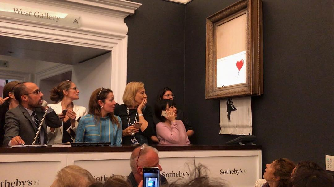 Banksy Painting Spontaneously Shreds Itself Moments After Selling for $1.4 Million at Sotheby's