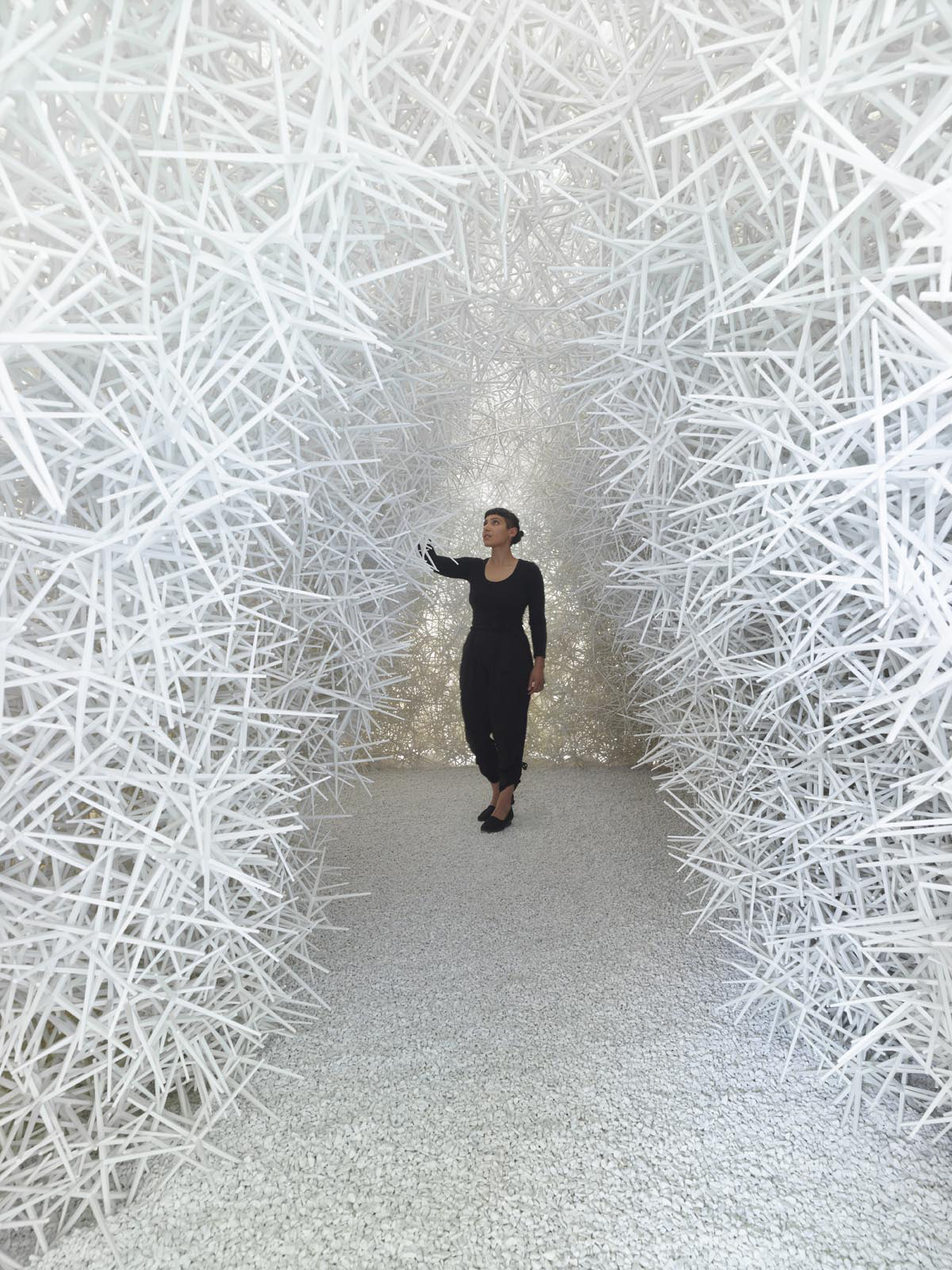 A Prickly Structure Made of 70,000 Reusable Hexapod Particles