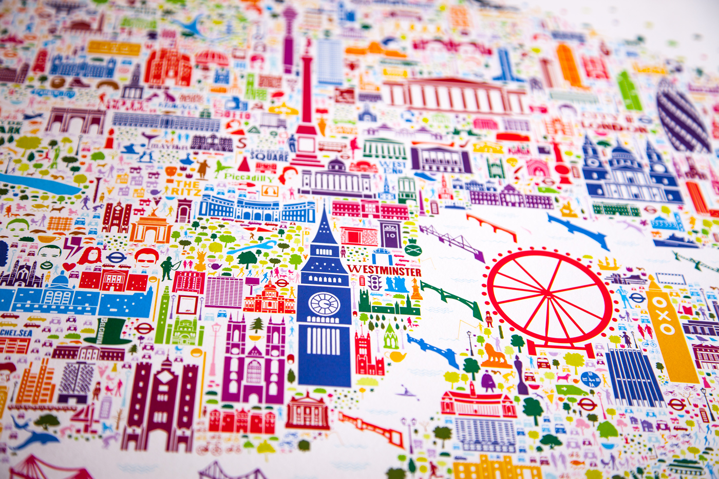 Great London Map.A Comprehensive And Colorful Map Of London Outlines The City S Great